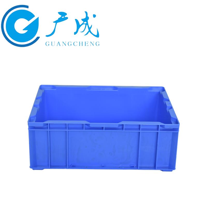 HP4C物流箱蓝色侧面图