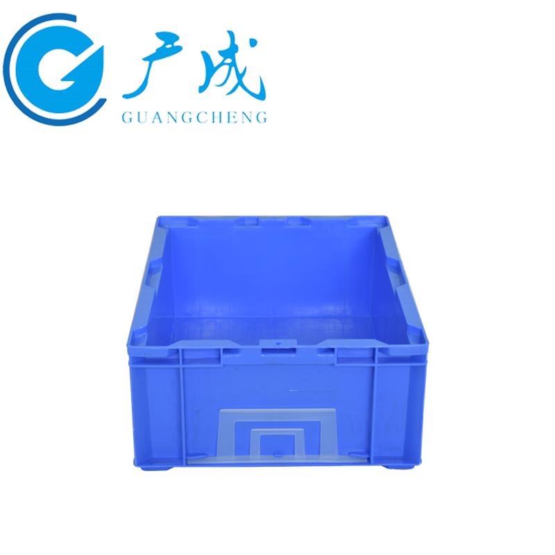 蓝色HP4C物流箱侧面细节