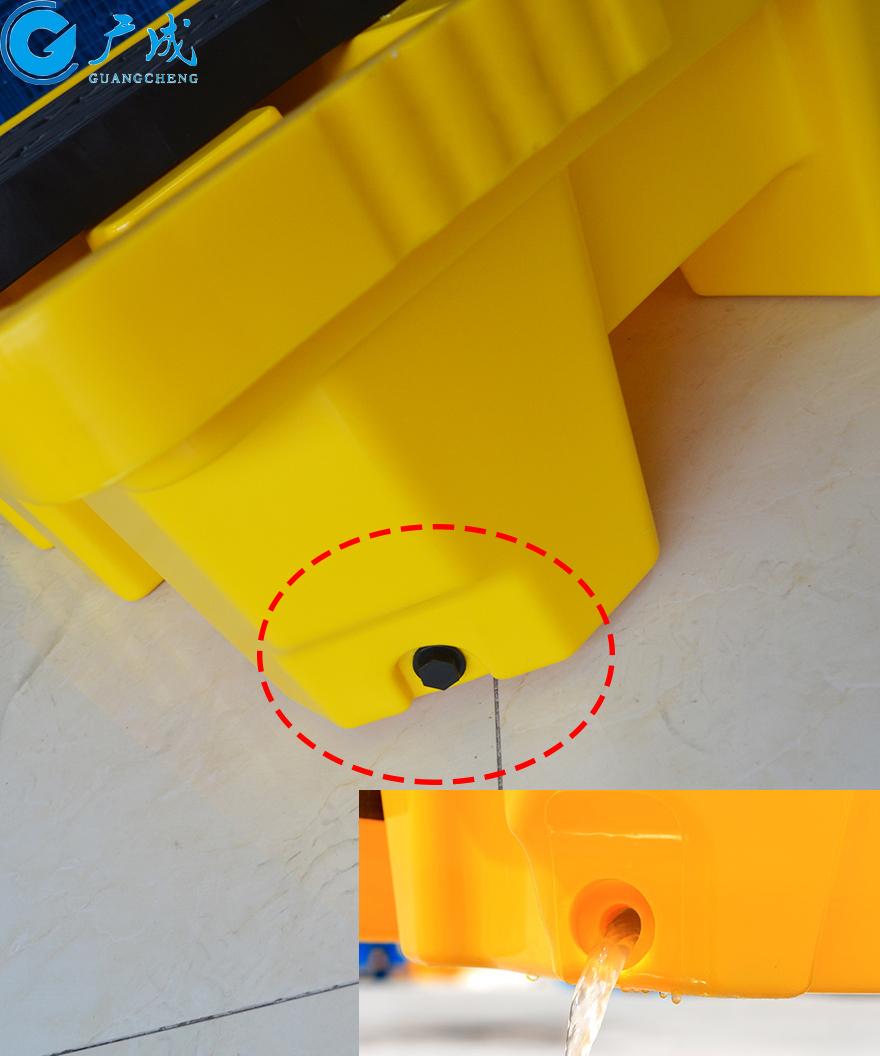 四桶装防漏托盘底部排泄口
