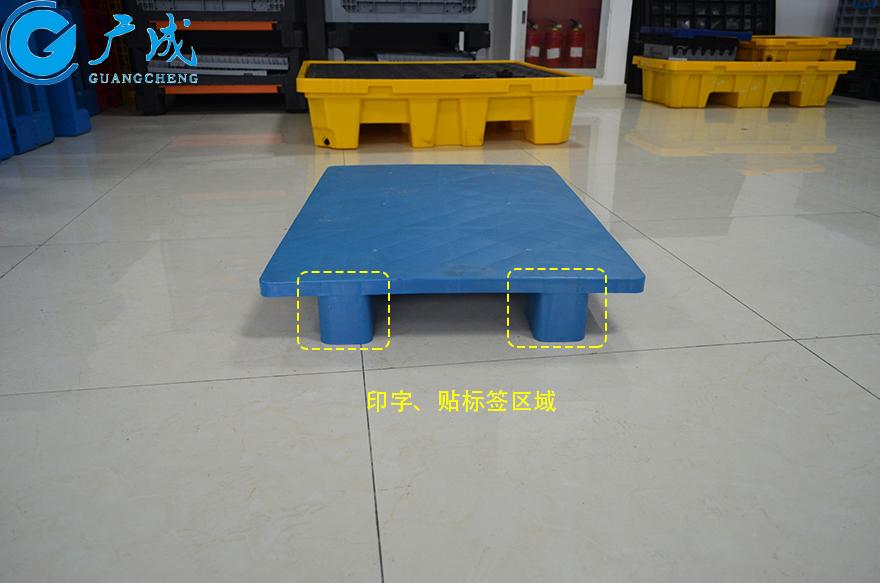 1007平板六腳墊板塑料托盤700寬側面