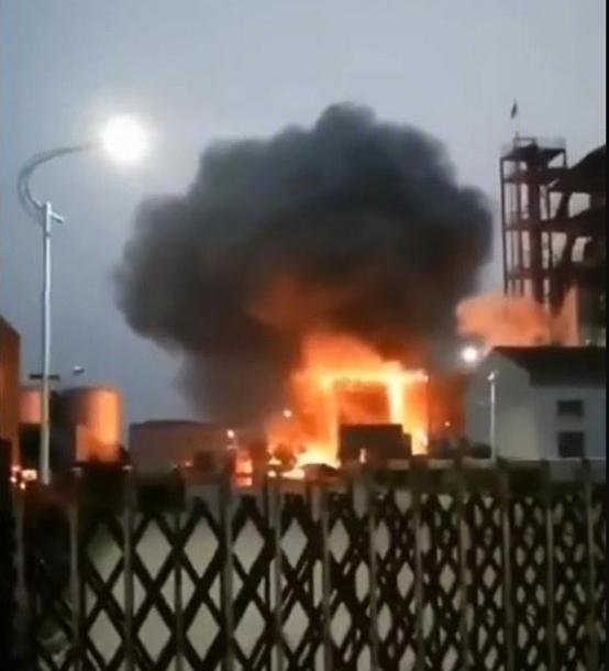 泰興化工廠爆炸場景