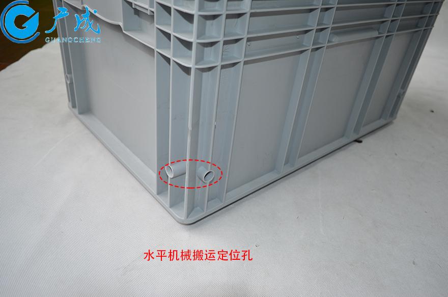 KLT6429物流箱加强底水平定位孔