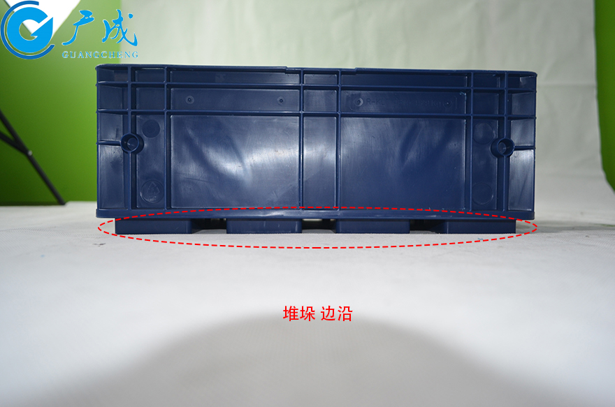 KLT4315物流箱堆垛边沿