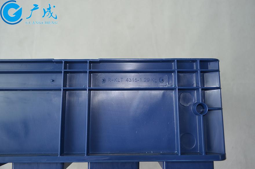KLT4315物流箱型号箱体注塑纹路