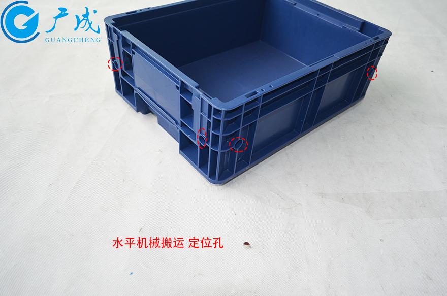 KLT4315物流箱水平定位孔