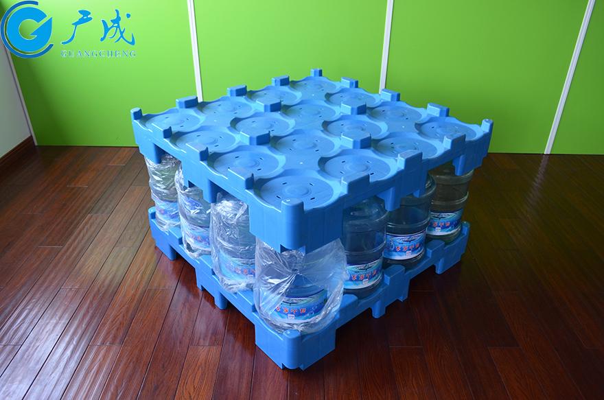 桶装水专用塑料托盘装载后堆码