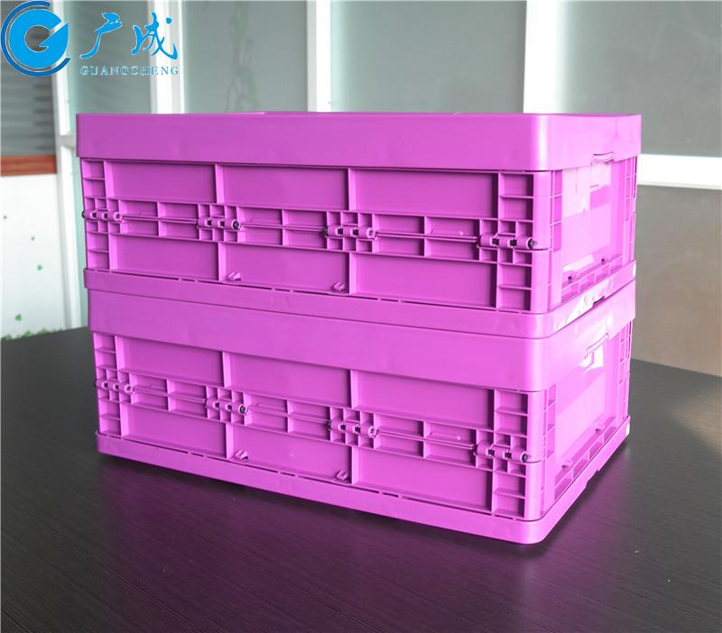 6422折疊周轉箱展開堆疊
