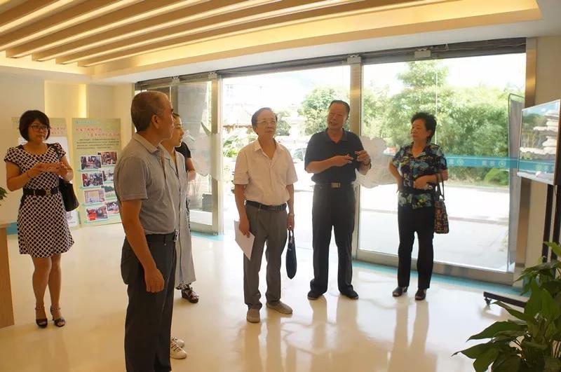 省、市、区老龄办领导调研龙岩慈爱老年康养中心