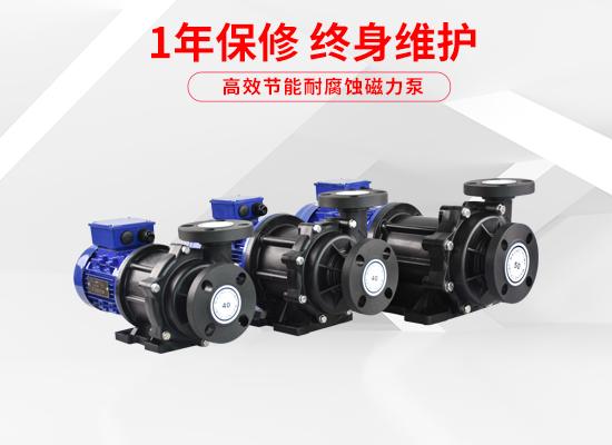 泓川耐腐蚀耐酸碱塑料磁力泵PW系列