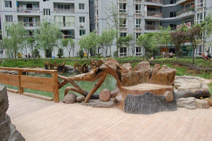 拟木塑石砂浆雕塑