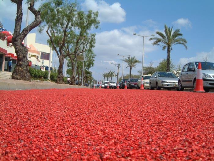 Colored ceramsite anti-slip floor