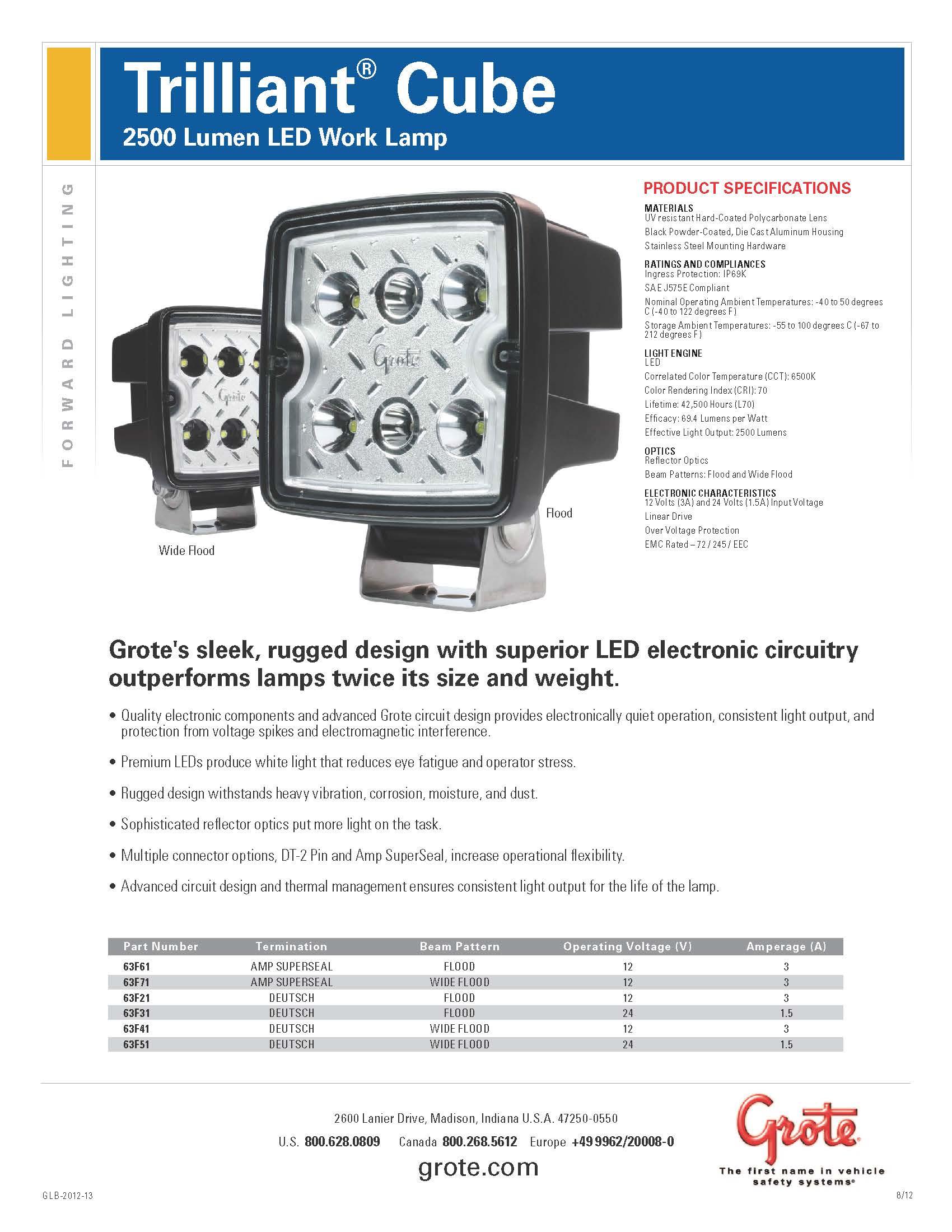 美國Grote LED 工作燈