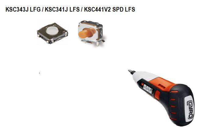 KSC開關用于百得電動螺絲刀