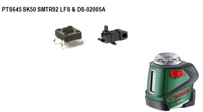 C&K PTS645按鍵開關用于Bosch水平儀