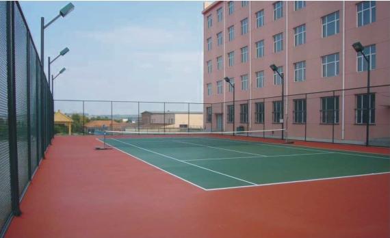 武汉城市职业技术学院球场地坪漆