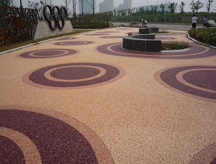 上海胶粘石透水地坪