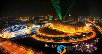 青島體育中心夜景照明案例