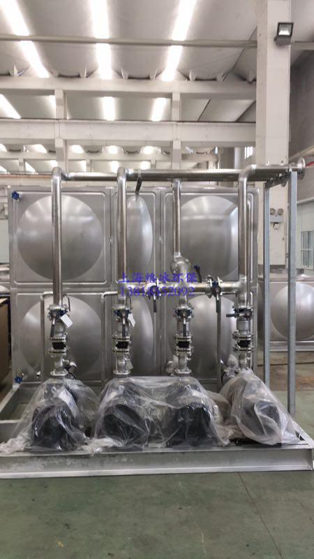 10T水箱3用一备循环泵连接管路304不锈钢材质