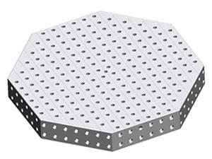 Three-dimensional flexible octagonal platform