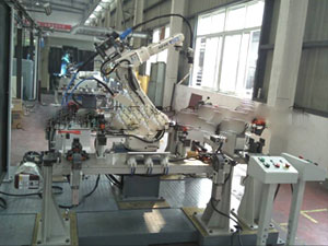 Car seat robot welding workstation