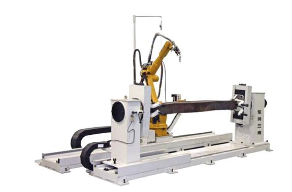 Boom robot automatic welding