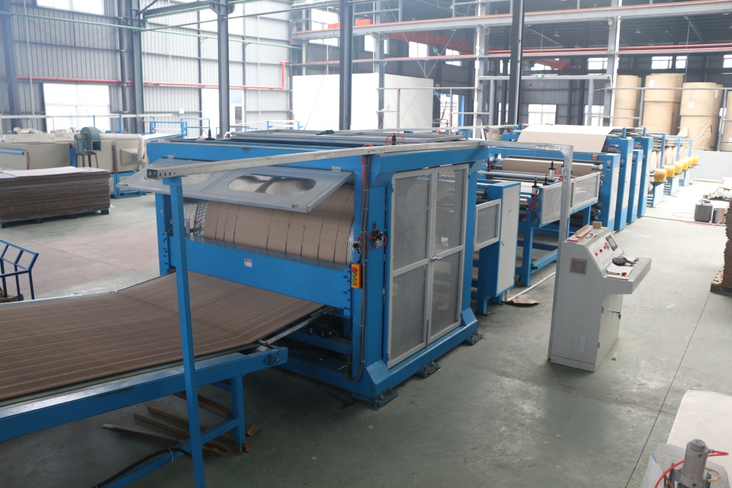 Honeycomb paper core production line
