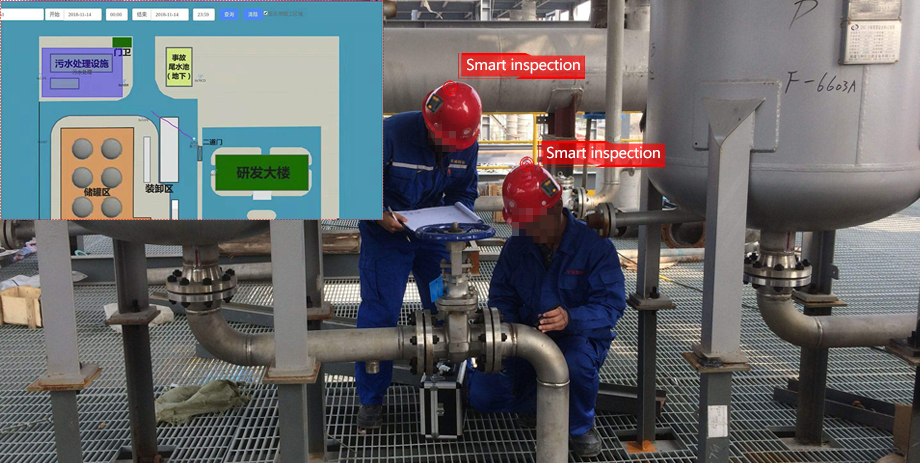 Intelligent attendance of chemical plant personnel positioning