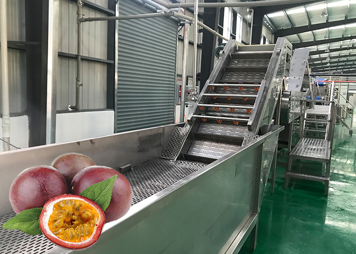 Passionflower and passion fruit processing production line