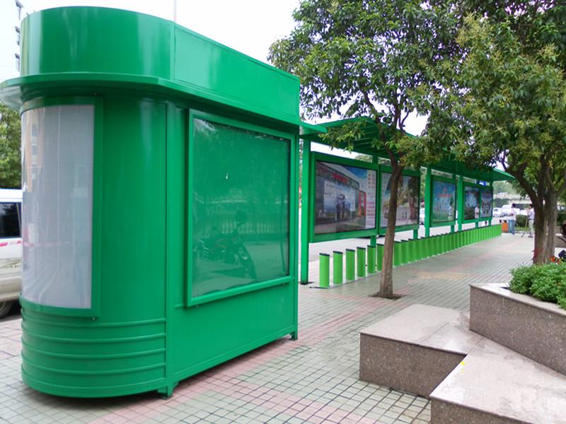 公司成功完成制作广元便民自行车棚