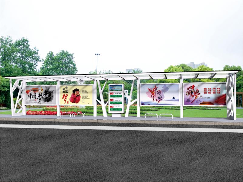 公交站台的生产工艺流程