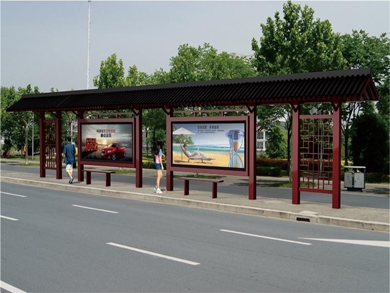 仿古公交站台厂家有很多怎么选择?