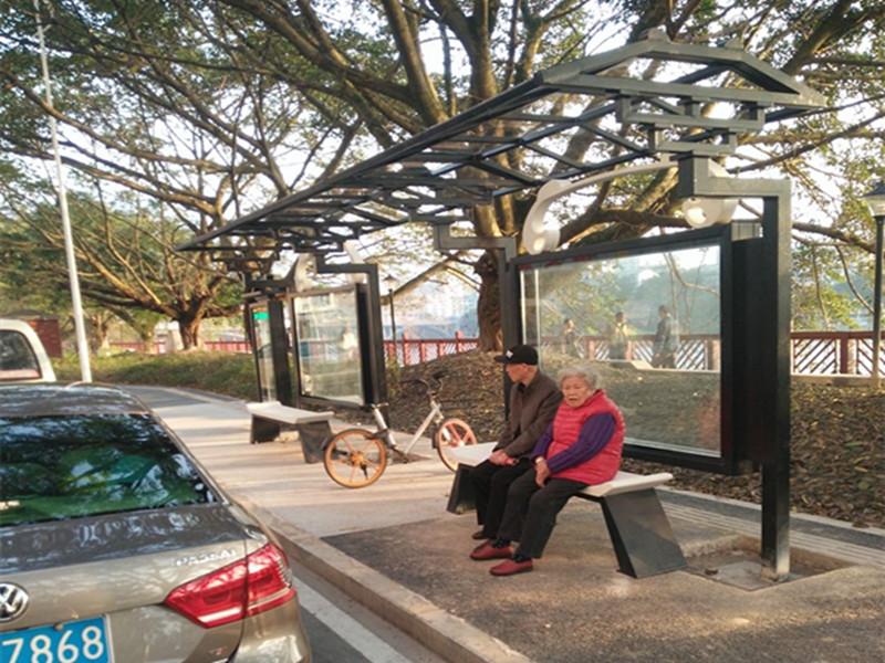 公司成功完成制作雅安公交站台