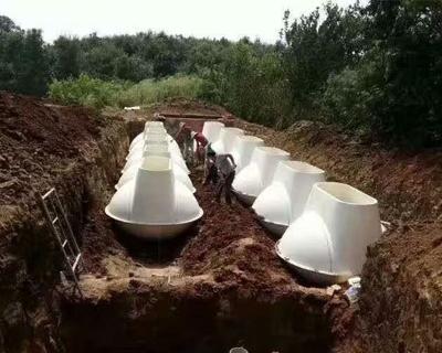 农村污水沼气型厌氧多级生化净化池