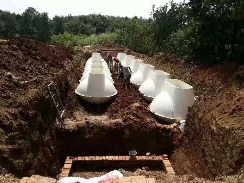 農村污水沼氣型厭氧多級生化凈化池