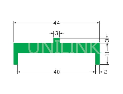 U364 宝盖型垫条