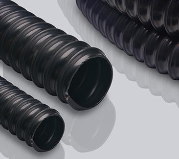 黑色聚氨酯软管1.5mm壁厚-持续导电管-排静电软管-静电中和软管-静电耗散软管