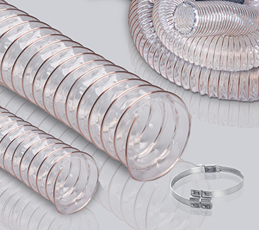 0.4mm壁厚钢丝软管-透明PU软管