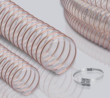 0.6mm壁厚 钢丝加强PU软管-中型耐磨软管-适用性范围广