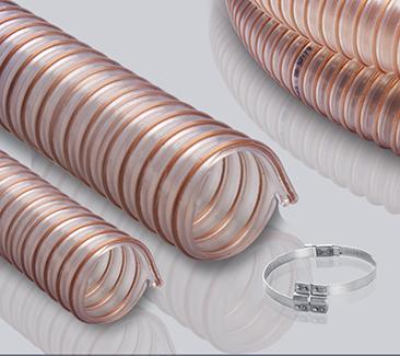 2.0mm壁厚聚酯型聚氨酯钢丝透明软管