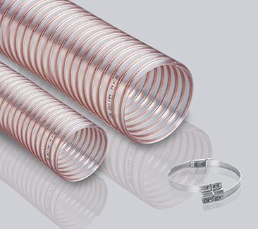 1.0壁厚透明PU软管-钢丝加强软管
