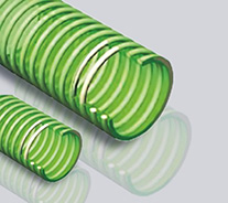 绿色塑筋透明BioVinyl PVC软管-水性食品专用软管