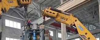 1000吨模锻机卸车-无锡大型设备吊装