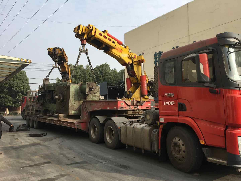 客户800吨模锻机卸车蹲位-无锡大型设备...
