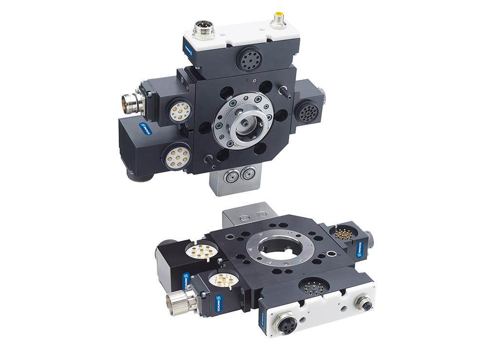 通用性强的快换系统,可用于对最高重量达 50 kg 的工件进行搬运