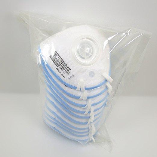 重松SHIGEMATSU带呼吸阀防雾霾防尘花粉病毒流感口罩DD11V