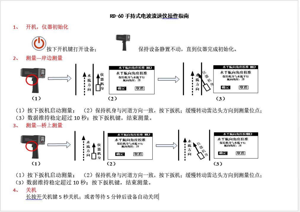 电波流速仪使用指南