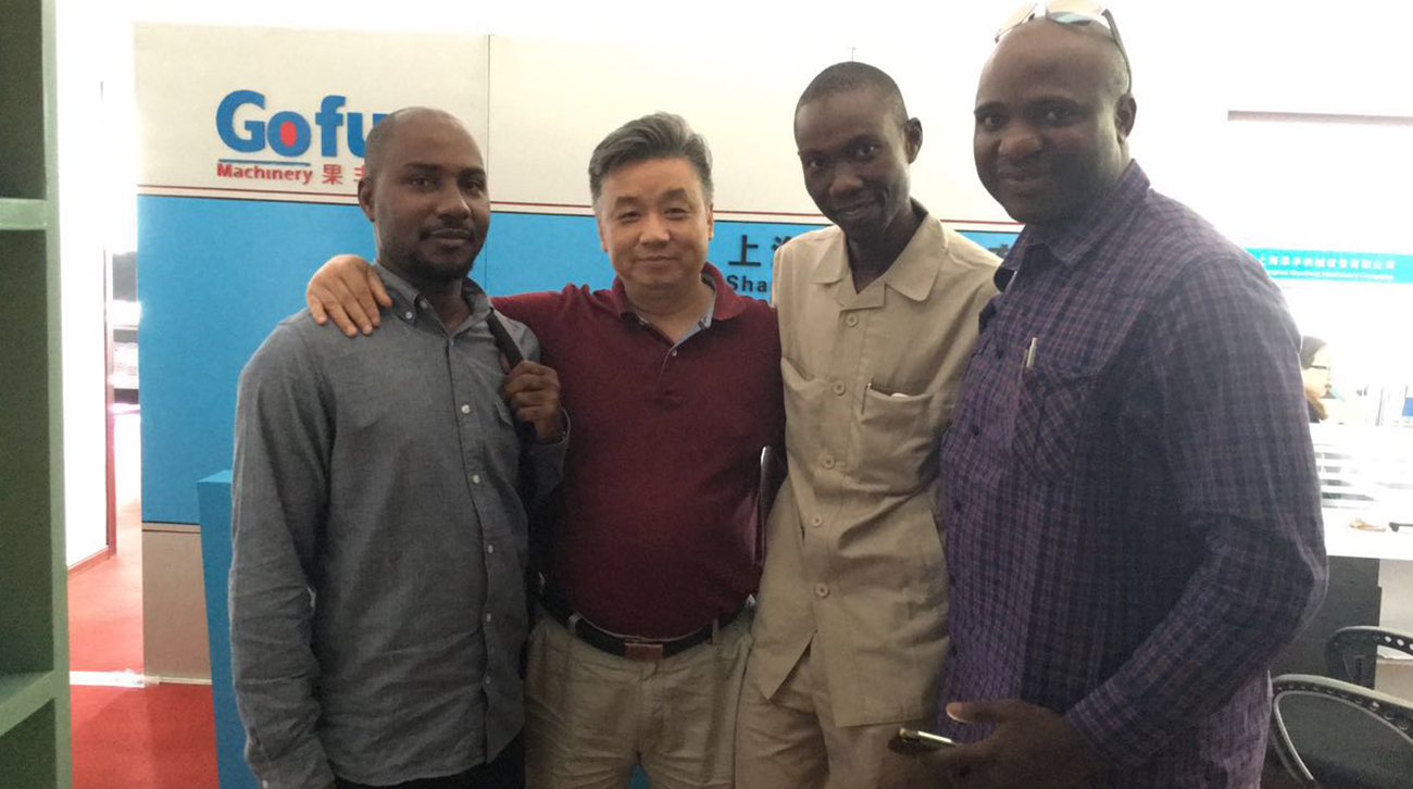 尼日利亞客戶來我司驗收生產線