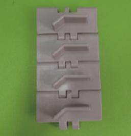 820塑钢带挡板直线链板