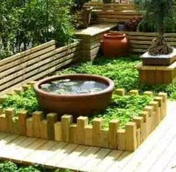 防腐木屋顶花园案例