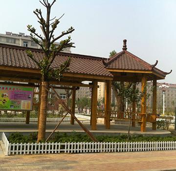 景观防腐木长廊